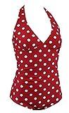 Aloha-Beachwear Damen Badeanzug A6020 Rot/Weiss Gr. 44