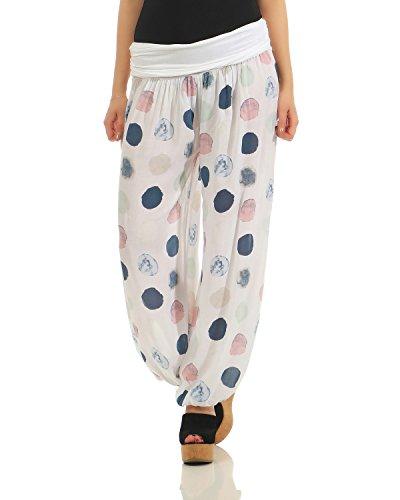 ZARMEXX Pantaloni Harem Donna Pantaloni Estivi Pantaloni Casual Scarpe Harem Pantaloni Aladdin Yoga Zumba (Taglia Unica, 40-46)