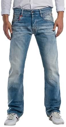 Replay Men's Boot Cut Jeans - Blue - Blau (9) - 36W/36L (Brand size : 36/36)