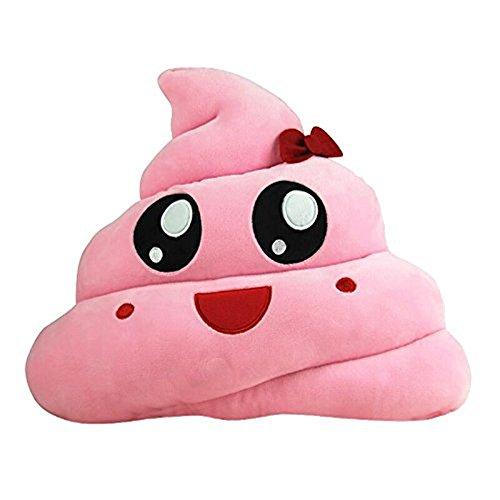 Baby doll regalo,kword divertente emoji emoticon cuscino cuore occhi poo forma cuscino bambola giocattolo regalo per natale 20cm