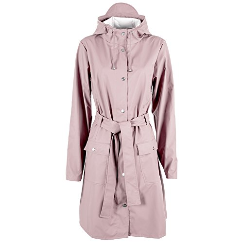 RAINS Mädchen Waterproof Long Jacke, Rosa (Rose), Medium -