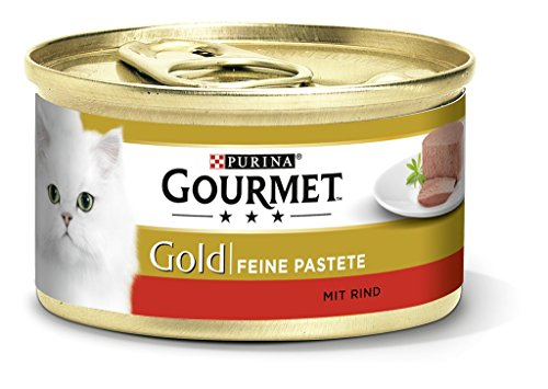 Getreide Katzenfutter Ohne (Gourmet Gold Feine Pastete mit Rind, 12 - er pack, 12 x 85 g)