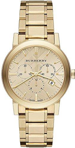 Orologio Burberry display cinturino Acciaio inossidabile oro e quadrante oro BU9753