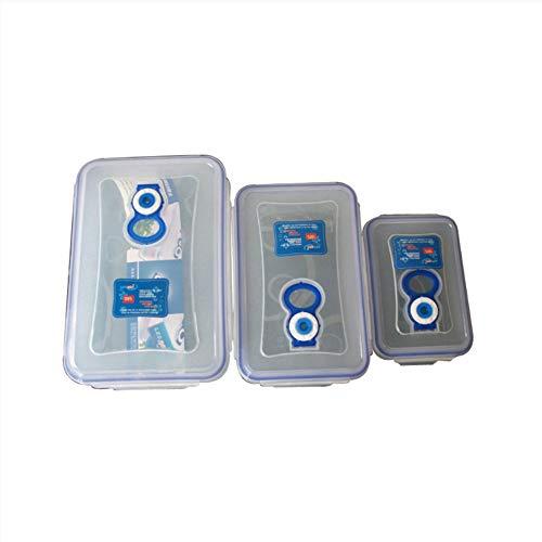zyfun Frischer Behälter Aufbewahrungsbox-Set Rechteck Kunststoff-Aufbewahrungsbox-Set Versiegelte Box-Set Farbbox Mikrowellengeeigneter Lebensmittelbehälter (Rechteck-kunststoff-behälter)