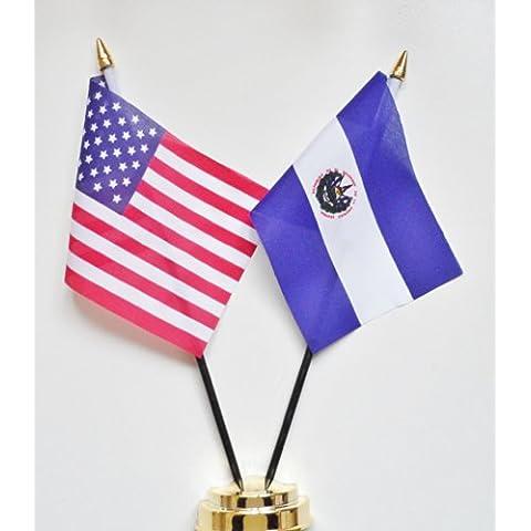 Stati Uniti & El Salvador Amicizia Bandiera Display da 25 cm