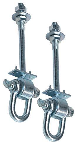 GK 2er-Set Schaukelhaken Safety, mit D-Verschluß, M12x140 mm, für Holzstärke bis. ca. 120 mm