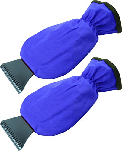 2 XL Eiskratzer handschuhe ver. Farben deckt bis die hälfte des Unterarms mit ab, Farbe:Blau