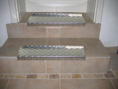 Treppenstufe ALU, 60x18 cm, eckig, glänzend