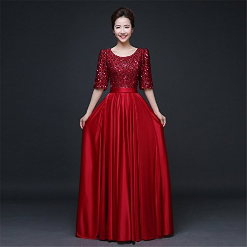 Drasawee - Robe - Taille empire - Femme rouge vin