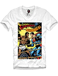1ff8adeb7 E1Syndicate V-Neck T Shirt Muhammad Ali Super Hero Mike Tyson Boxen Boxing