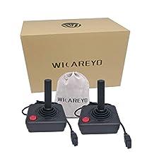 WiCareYo 2pcs Joysticks Gamepad para el controlador Atari 2600