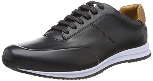 BOSS Hugo Boss Boss Herren Legacy_Runn_Burs Sneaker, Blau (Dark Blue 401), 45 EU (Hugo Boss-blaue Schuh)