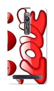 CimaCase Love Designer 3D Printed Case Cover For Asus Zenfone 2