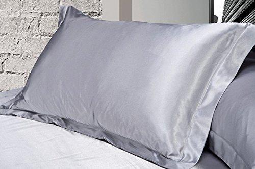 Taie d'oreiller Standard sedosa de satin, plusieurs couleurs Matrimonio doble gris