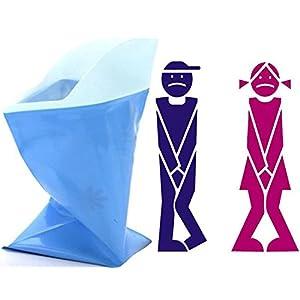 41C5KpOBU1L. SS300  - Camping Portable Toilet Urine Bottle Bag Travel Potty Urine Funnel for Unisex Men Women Children Kids Car Traffic Jam