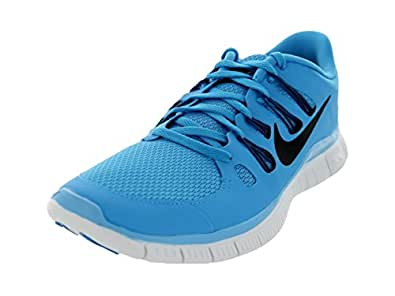Nike Men's Free 5.0+ Running Shoe VIVID BLUE/GREEN ABYSS/SUMMIT WHITE/BLACK 9.5 D(M) US