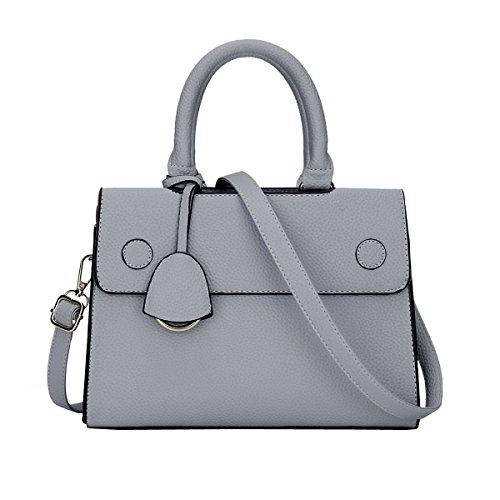 mm Henkeltaschen ES809 handtaschen Stil Deman Schultertaschen PU Grau DISSA Leder Mode 2018 neuer 265×120×185 7gAwcqxR