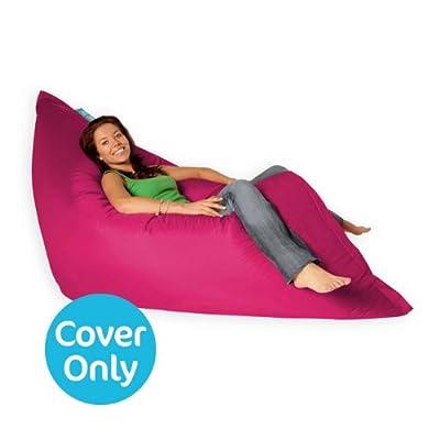 BAZAAR BAG ® - Giant Beanbag - Indoor & Outdoor Bean Bag - MASSIVE 180x140cm - GREAT for Garden (Pink) COVER ONLY