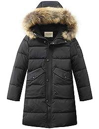 SEEU Jungen Winterjacke Kälteschutz Lange Mantel Mit Abnehmbar Kapuze