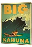 NGHGD Tin Sign XXL Retro Big Kahuna surfboard surfer wave