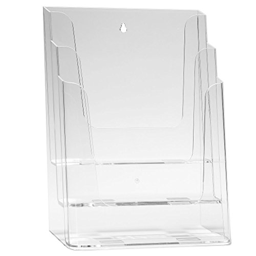 porte-brochure-din-a4-brochure-stand-table-stand-catalogue-stand-avec-3-etages-transparent