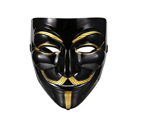 ske Luxus V wie Maske Guy Fawkes für Halloween Karneval Cosplay (Film Basierend Halloween Kostüme)