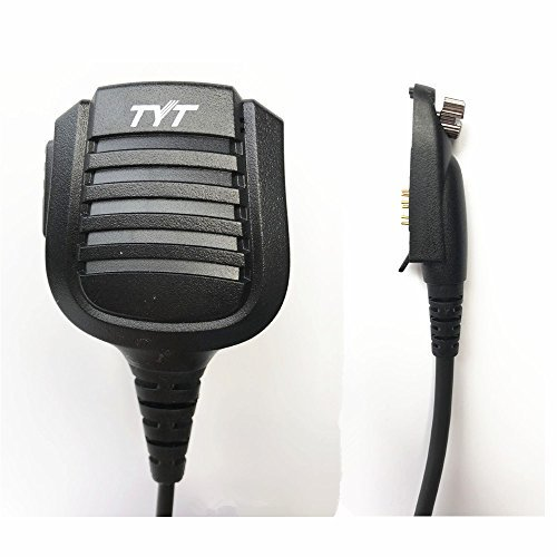 Original TYT Remote Hand/Shoulder Speaker Mic Mikrofon for Digital DMR Dual Band Radio TYT md-2017md-398IP67Waterproof Two Way Radio