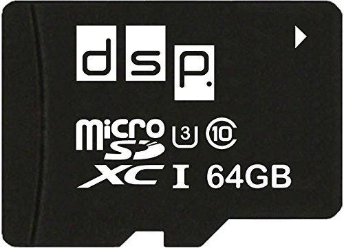 DSP Memory 64GB Micro SD Card SDXC UHS-1 SD3.0 (R95/W90) Ultra Highspeed Class 3 Speicherkarte (Memory Card 64 G)