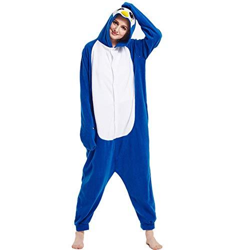 YLOVOW Weihnachten Erwachsene Pyjamas Damen Unisex Fleece Tier Onesies Kigurumi Neuheit Pyjamas Nachtwäsche Kostüme Halloween,XL