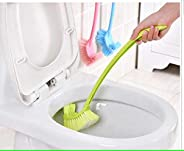 MosQuick Double Sided Plastic Bathroom wc / toilet / pot cleaning Brush with Long Handle,Bule & white,1-P