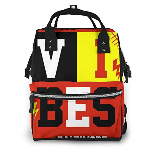 Dnwha Baltimore Only Good Vibes Camping Diaper Bag, Waterproof Canvas Laptop Backpack, Personalized Travel Backpack Student Backpack College Bag