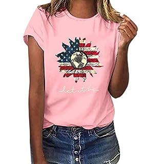 Junjie Frauen Mädchen Plus Flagge Sunflower Print Tees Shirt Kurzarm Bluse Top frühling stillen Hochzeit lustig Short Shirt Tops Umstandsrock Damen schwarz, weiß, gelb, rosa, grau