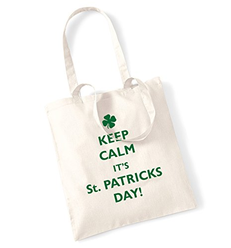 Keep calm it's St. Patricks day tote bag natur