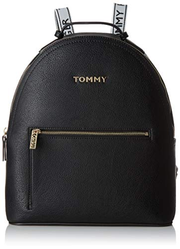 Tommy Hilfiger Damen Iconic Tommy Backpack Rucksack, Schwarz (Black), 12x33x30 centimeters