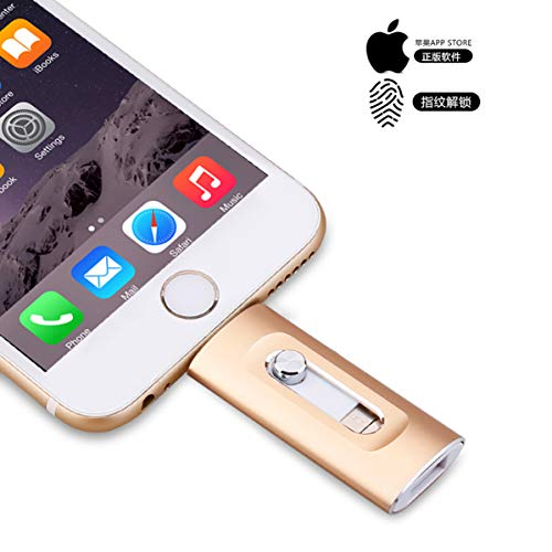 3-in-1 OTG USB-Speicherstick für iPhone, iOS USB 3.0 Jump Thumb Pen Drive, externer Speicherstick für Apple iOS Android Computer Rose 256 GB
