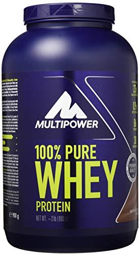 Perfect Whey Protein (Multipower 100% Pure Whey Protein - wasserlösliches Proteinpulver mit Schokoladen Geschmack -  Eiweißpulver mit Whey Isolate als Hauptquelle - Vitamin B6 und hohem BCAA-Anteil - 900 g)