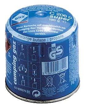 Butangas-Kartusche C 206 Super (Butan/Propan-Mischung (Verhaeltnis 70/30) * Starke Leistung vor al)