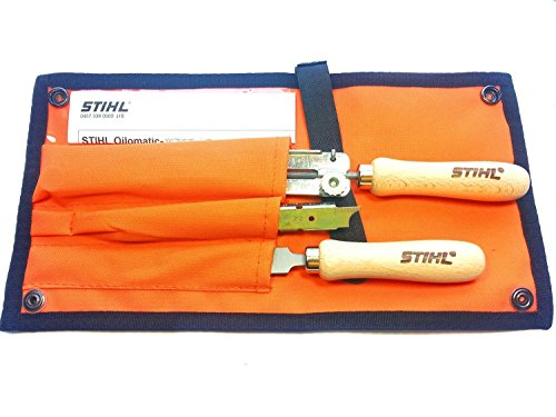 """Stihl Plastic Chainsaw Chain Sharpening Filing Kit 1/4"""" and 3/8"""" Picco Micro 4 mm 5/32"""" (Grey)"""