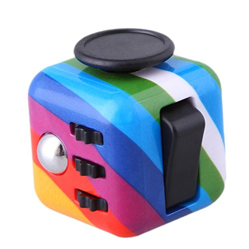 Walwh Relieves Stress and Anxiety Cube Edc Fidget Toy for Children and Adults (Candy Colour)