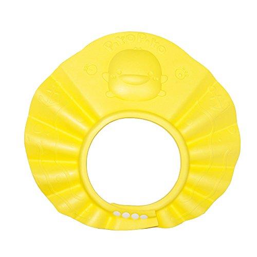 SHOUHOUZHE Duschhaube Kinder Shampoo Cap Multifunktions Einstellbare Wasserdichte Badekappe Gelb (31,5 * 30,6 cm)