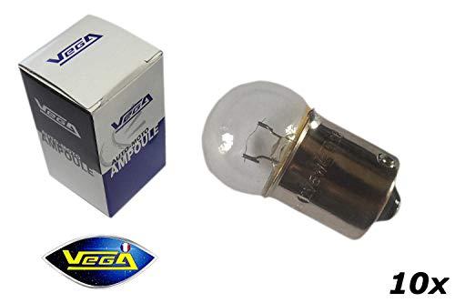10 ampoules Vega® R10W G18 10W BA15S Halogène\