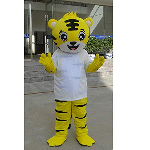 Unbekannt Tiger Doll Maskottchen Cartoon Doll Kostüm Doll Show Kostüm Maskottchen Halloween Event Display Werbung (Tiger Maskottchen Kostüm)