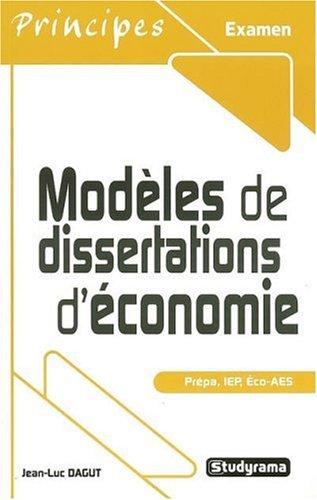Modèles de dissertations d'économie
