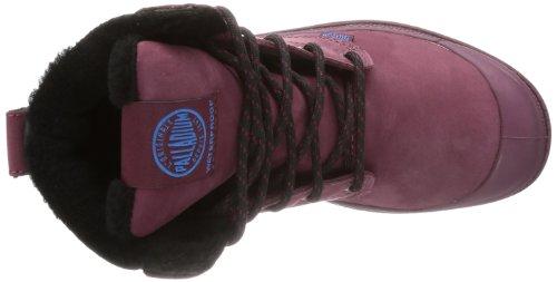 Palladium Pampa Sport Cuff Wps, Chaussures bateau mixte adulte Rouge - Rot (Burgundy/Black)