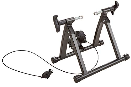 HulkFit Bike Trainer Stand Steel Bicycle Exercise Magnetic Stand with Noise Reduction Wheel (Black) -