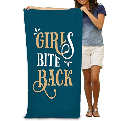 KHETAMNY Premium Quality Pool Towel,Swim Towels for Bathroom,Gym,and Pool 31 In X51 In Girls bite Back Funny Quote Hand Drawn Vintage printss Bags Posters