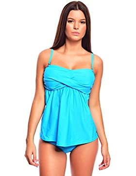 Simple Push Up Tankini con Slip, (flav - 1047S6 - f3409)
