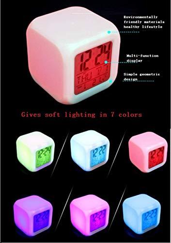 41C5Uu321zL - HHKX100822 Harry Potter Despertador Colorido Estado De Ánimo Led Despertador O