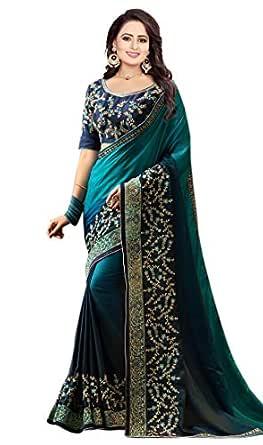Arohi Designer Women's Georgette Saree With Unstitched Blouse Piece.