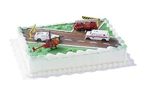 Cake-Company-Torten-Figur-Rettungsfahrzeuge-Torten-Deko-Set-mit-3-Fahrzeugen-1-Hubschrauber-Absperrbaken-aus-Kunststoff-Kuchen-Deko-fr-Kinder-Geburtstag-Motiv-Torten-Torten-Verzierung